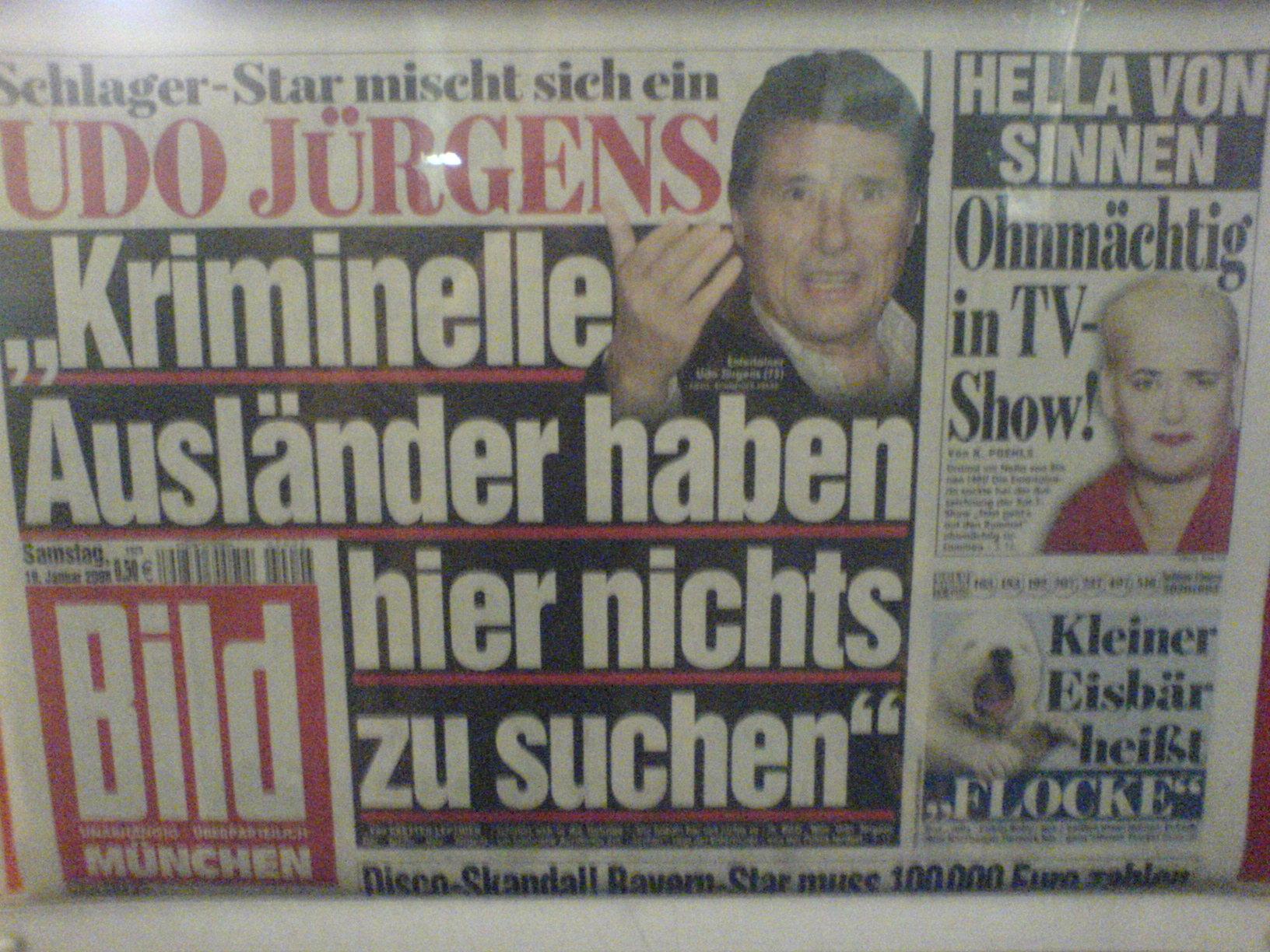 Udo Jürgens Bild Zeitung